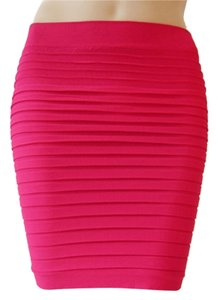 Lotus Seamless Stretch Fitted Mini Skirt RoseRed