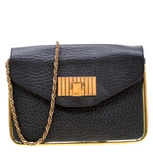 Chloé Leather Canvas Shoulder Bag