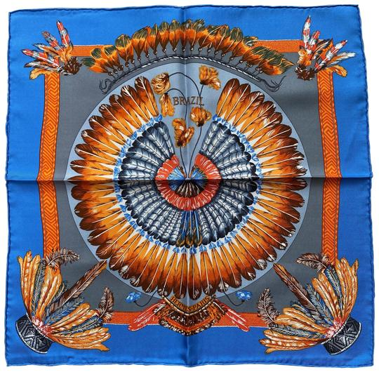 Preload https://img-static.tradesy.com/item/27040744/hermes-blue-and-orange-early-90s-vintage-brazil-silk-pocket-square-a-0-1-540-540.jpg