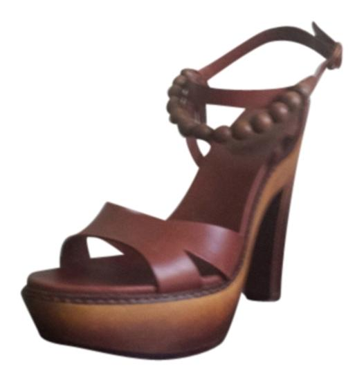 UGG Australia Platforms Wood Brown Sandals