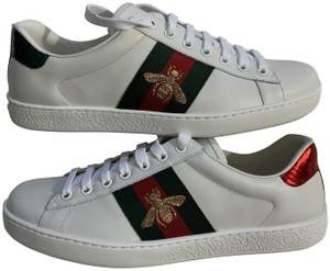 Gucci Leather Snakeskin White Athletic