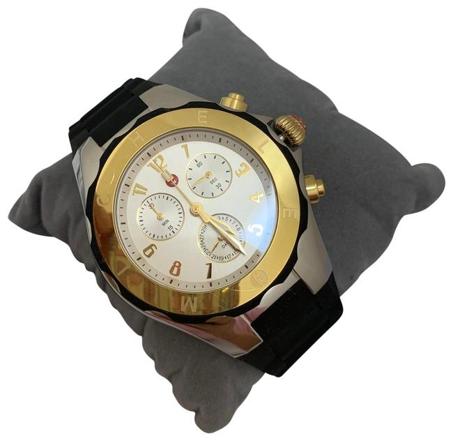 Item - Black Silver&gold Jelly Tahitian Bean Large Chronograph Mww12f000057 Watch