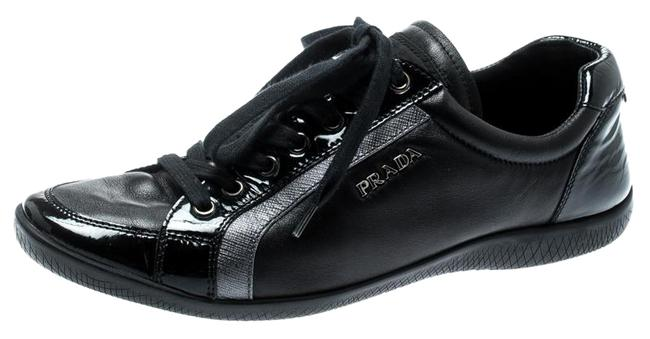 Item - Black Leather Lace Up 37 Sneakers Size US 6.5 Regular (M, B)