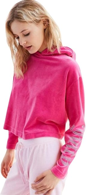 Item - Pink For Uo Gothic Crystal Velour Sweatshirt/Hoodie Size 8 (M)