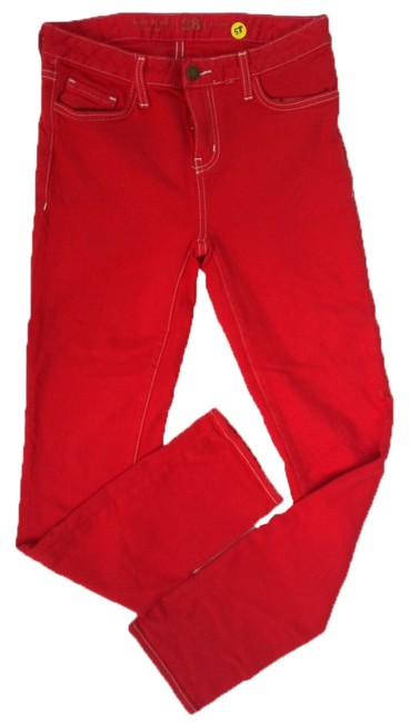 Item - Red Capri/Cropped Jeans Size 28 (4, S)