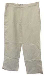 Herman Geist Embroidered Crop Capri/Cropped Pants White