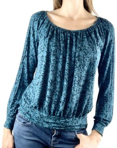 Daisy Fuentes Top Teal, Black