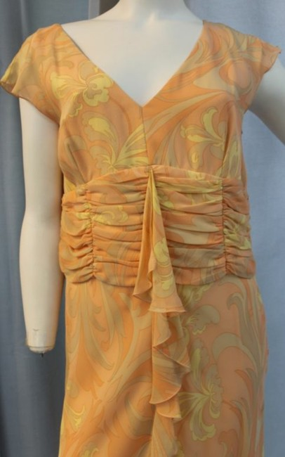 PEACH Maxi Dress by Escada Print Silk