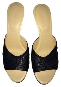 Chanel Heels Open Toe Black Formal