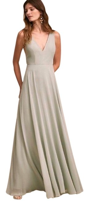 Item - Green Colby Bhldn Anthropologie Morning Mist Gown Bridesmaid Long Formal Dress Size 18 (XL, Plus 0x)
