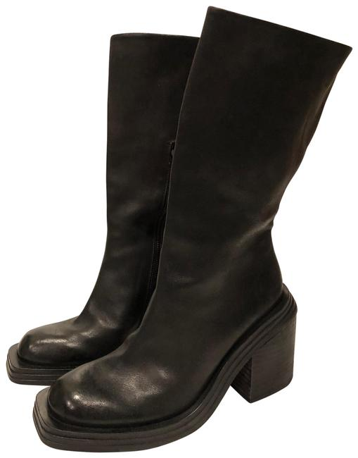 Item - Black New Leather Mid Calf Boots/Booties Size EU 39 (Approx. US 9) Regular (M, B)