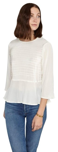 Item - Ivory New • • Andy Silk Blouse Size 6 (S)