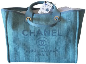 Chanel Deauville Tote in Blue
