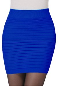 Lotus Mini Skirt Blue