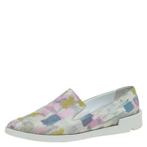 Baldinini Abstract Print Leather Pointed Toe Multicolor Athletic
