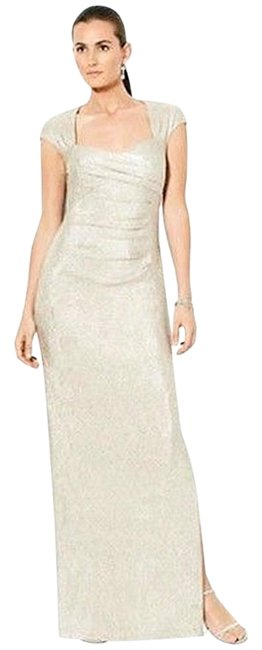 Item - Gold By Metallic Evening Maxi Gown Long Formal Dress Size 8 (M)