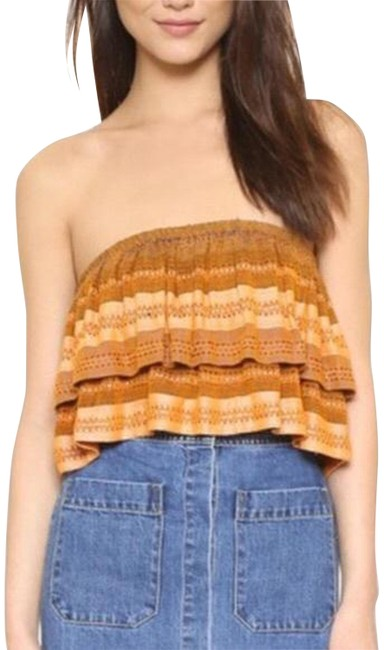 Item - Multi Color Indian Summer Crop Tiered Tube S Blouse Size 6 (S)