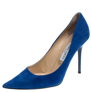 Jimmy Choo Suede Pointed Toe Blue Pumps