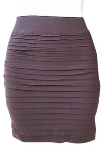 Lotus Seamless Fitted Pencil Mini Skirt Coffee