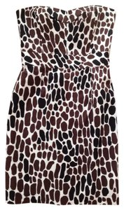 Trina Turk short dress Brown/white Cora Animal Print Strapless Above Knee on Tradesy