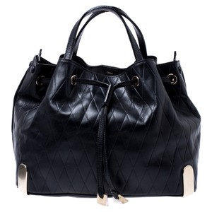 Chloé Leather Canvas Quilted Hobo Bag