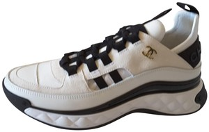 Chanel Sneakers Trainers Suede Black Ivory Athletic