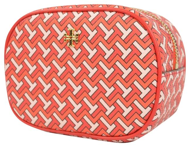 Item - Red T Tile Pouch Cosmetic Bag