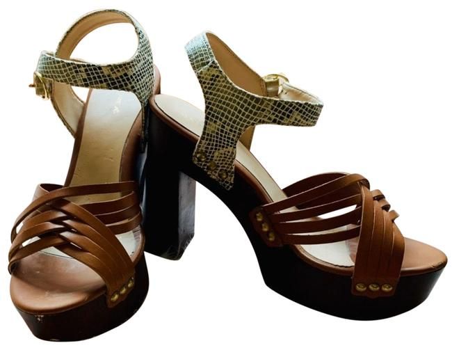 Item - Brown Sandals Stacked Hell Mules/Slides Size US 10 Regular (M, B)