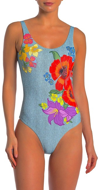 Item - Multi with Tag Kelly Floral Scoop Back Swimsuit One-piece Bathing Suit Size 12 (L)
