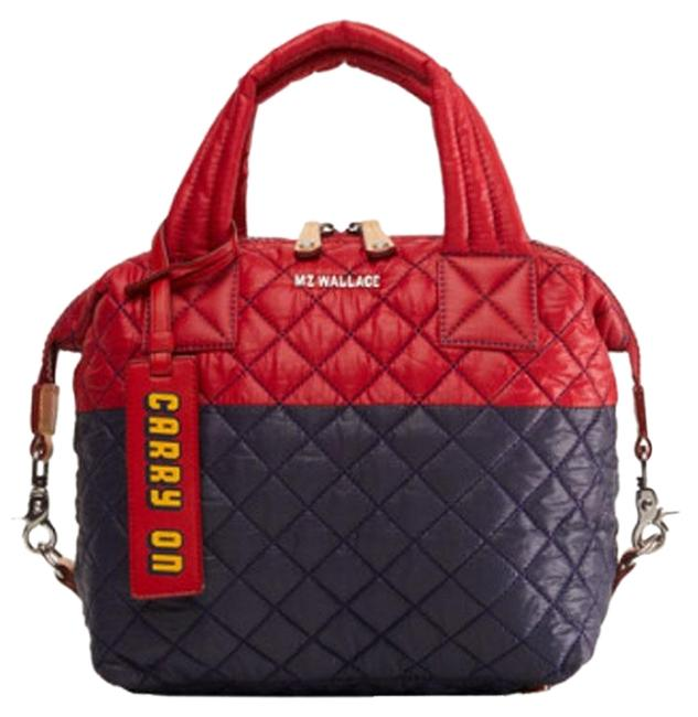 Item - Sutton Carry On Quilted Apple Dawn Red Navy Premium Nylon Satchel