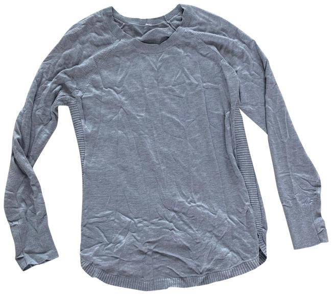 Item - Gray Knit Sweater Athletic Activewear Top Size 10 (M)