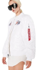 Alpha Industries Bomber Embroidered Patch Graphics Tiger Motorcycle Jacket