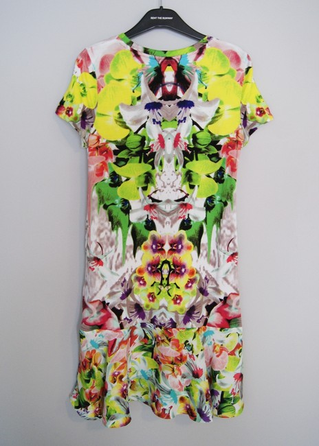 Prabal Gurung for Target short dress Multicolor Tropical Botanical Print Floral Print Abstract Print Neon Bright Summer Orchid Designer T-shirt Short Sleeve Flounce on Tradesy
