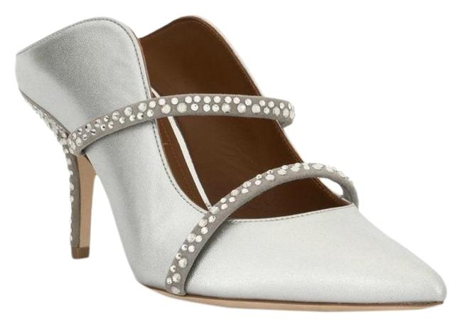 Item - Silver with Crystals Maureen Mules/Slides Size EU 39.5 (Approx. US 9.5) Regular (M, B)