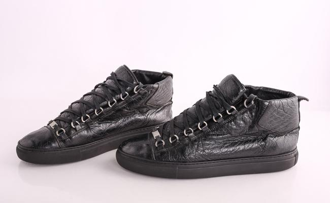 Item - Black Arena Leather High Top Sneakers Shoes