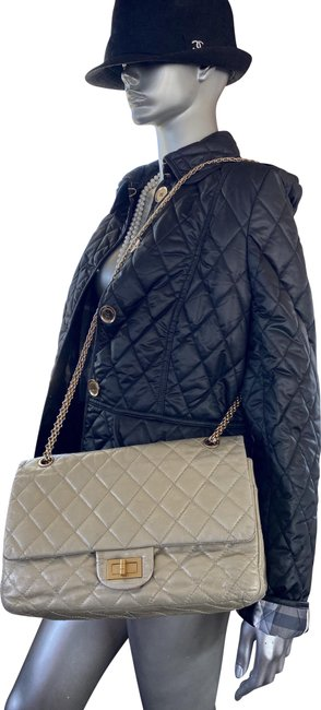 Item - 2.55 Reissue Double Flap Limited Edition Silver Lambskin Leather Shoulder Bag