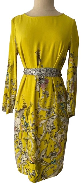 Item - Yellow Mid-length Cocktail Dress Size 4 (S)