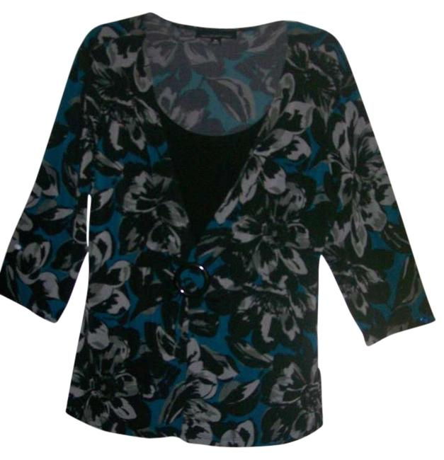 Briggs Top Black, Turquoise, Gray
