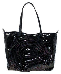 Valentino Sequin Tote in Navy Blue