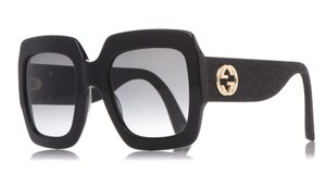 Gucci Oversized Large Style GG GG0102S 001 Glitter Square