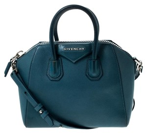 Givenchy Leather Canvas Mini Satchel in Blue