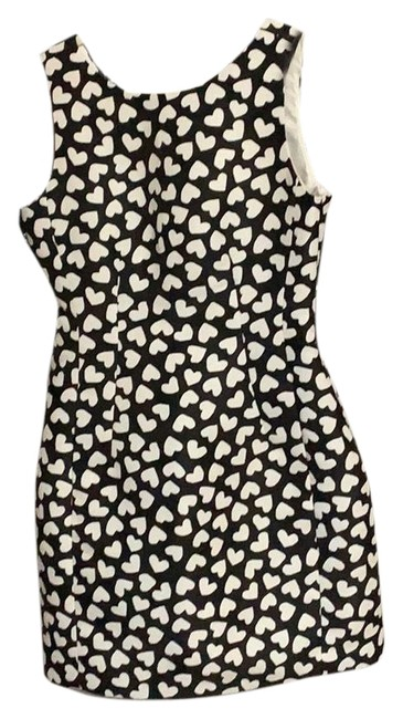 Item - Black with White Hearts Short Night Out Dress Size 10 (M)