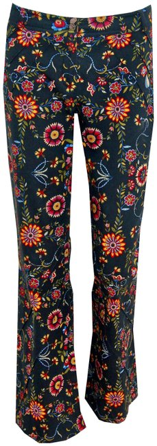 Dior Multi-floral Christian By John Galliano Vintage Floral Denim Trouser Pants Size 2 (XS, 26) Dior Multi-floral Christian By John Galliano Vintage Floral Denim Trouser Pants Size 2 (XS, 26) Image 1