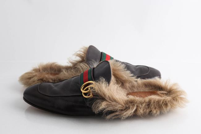 Item - Brown Princetown Leather Slipper with Double G Shoes
