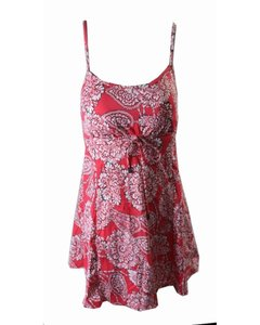 Swim Solutions Swim Solutions Coral Lady Lace Printed Empire Swimdress 8