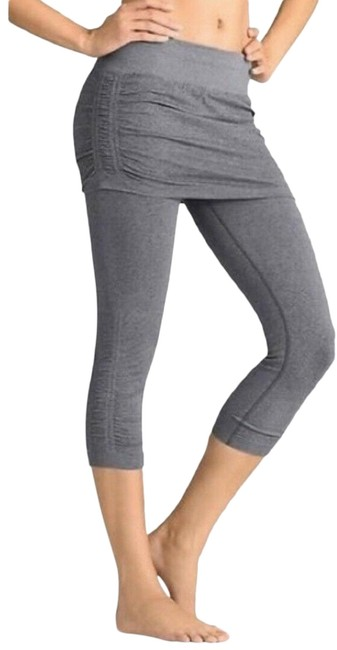 Item - Grey Coal Skirt Got Legs Heathered Compression Capri Cropped Pant Activewear Bottoms Size 8 (M, 29, 30)