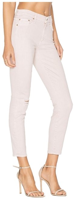 Item - Pink Light Wash The Looker Crop Capri/Cropped Jeans Size 24 (0, XS)