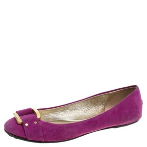 Jimmy Choo Suede Morse Ballet Pink Flats