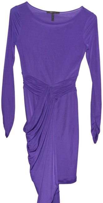 Item - Purple Drape Mid-length Formal Dress Size 4 (S)