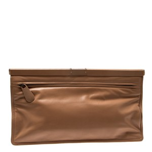 Bottega Veneta Leather Beige Clutch